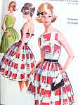 1960s Dress Pattern Lovely Bateau Neckline Fitted Bodice Sun Back Full Skirt Dress Day or After 5 Fashion Beginners McCalls 6221 Vintage Sewing Pattern Bust 32