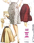 1960s Mad Men Era Flared Skirt Pattern Easy To Sew 2,6 and 8 Gore Flared Skirts 3 Styles McCalls 6439 Vintage Sewing Pattern FACTORY FOLDED Waist 34