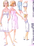 1960s Slip Pettipants and Pants Lingerie Pattern McCalls 6590 FLATTERING Bias Cut Slip Version Bust 34 Vintage Sewing Pattern