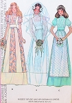 1970s Bridal Dress Wedding Gown Pattern McCalls 4038 Romantic Bohemian Country Prairie Boho Styles Includes Bridesmaid Dress Vintage Sewing Pattern