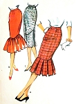 1950s Slim Skirts Pattern McCalls 4633 Three Versions Includes Mermaid Fishtail Waist 25 Vintage Sewing Pattern