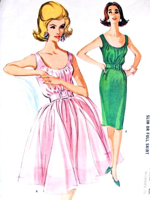 1960s Beautiful Evening Cocktail Dress Pattern Mccalls