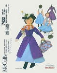 Rare 1960s Mary Poppins Stuffed Doll with Nanny Costume McCalls 7432 Vintage Sewing Pattern