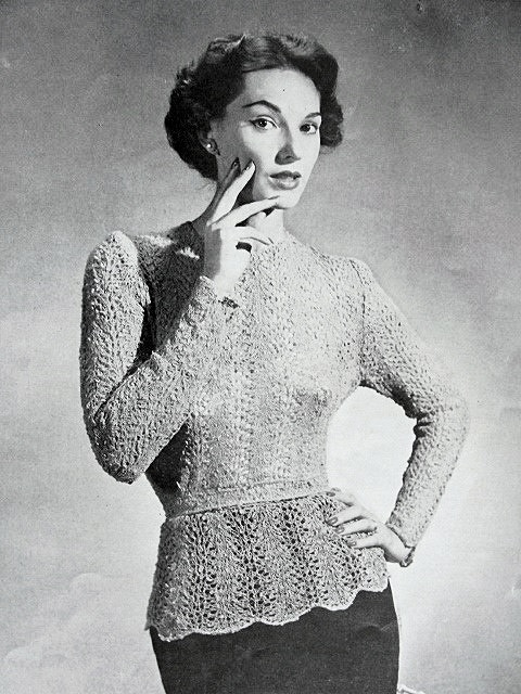 Instant Pdf Pattern 1950s Vintage Knitting Crochet Pattern