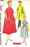 1950s  LOUNGING HOUSECOAT ROBE PATTERN 3 STYLES SIMPLICITY 4471