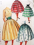1950s Full Skirt and Cummerbund Pattern Simple To Make SIMPLICITY 1490 Day or Evening Vintage Sewing Pattern