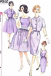1960s Slim or Full Skirt  2 Pc Dress With Shortie Jacket Pattern Simplicity 3862 Includes Cummerbund Early Sixties Mad Men Era Bust 32 Vintage Sewing Pattern