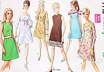 1960s MOD Dress Pattern SIMPLICITY 7713 Four Fab Styles Daytime and Party UNCUT Vintage Sewing Pattern Several Sizes Available
