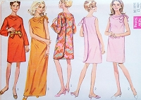 1960s MOD 3 Armhole Back Wrap Dress Regular or Maxi Length Pattern SIMPLICITY 7901 Day or Evening Bust 36 Vintage Sewing Pattern UNCUT