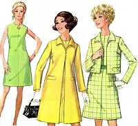 1960s RETRO Dress Jacket and Coat Pattern SIMPLICITY 8052 Lovely Classic Styles Bust 32.5 or 34 Vintage Sewing Pattern UNCUT
