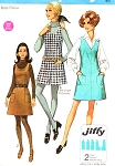 Mod 60s CUTE Jumper Dress and Pant Dress Pattern SIMPLICITY JIFFY 8404 Easy To Sew UNCUT Vintage Sewing Pattern Several Sizes Available