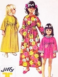 SWEET Girls Robe Housecoat Bathrobe Pattern SIMPLICITY 8570 Three Styles Size 12 Vintage Sewing Pattern UNCUT