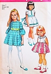 SWEET Girls Pretty Dress Pattern SIMPLICITY 8714 Three Style Versions Size 7 Vintage Sewing Pattern UNCUT