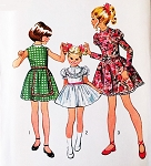 1960s CUTE Girls Dress Pattern SIMPLICITY 9952 Three Styles Size 10 Vintage Sewing Pattern UNCUT