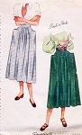 1940s Stylish Dirndl Skirt Pattern Simplicity 2305 Huge Patch Pockets Easy To Wear Waist 28 Vintage Sewing Pattern