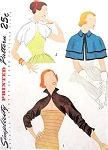 RESERVED1950s Striking Bolero Jackets and Cape Pattern Simplicity 3606 Three Styles Daytime or Evening Vintage Sewing Pattern