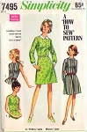 1960s How To Sew Dress Pattern Simplicity 7495 Cute Shirtdress or Flared Skirt Dress Easy To Sew  Bust 34 Vintage Sewing Pattern UNCUT