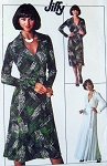 1970s DVF Wrap Dress Pattern Diane Von Furstenberg Style Wraparound Dress Famous Iconic Design American Hustle Simplicity 7705 Vintage Jiffy Sewing Pattern