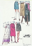 1970 Simplicity 9099 Retro Mod Skirt Vintage Sewing Pattern Jiffy Pencil Skirt Mini Midi Maxi Skirts Waist 29