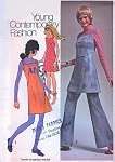 Simplicity 9474 Vintage 70s Sewing Pattern SUPER CUTE Includes Applique Transfer, Square Neck Straps Sun Dress, Mini Jumper, Tunic Top and Flared Bell Pants UNCUT Bust 36