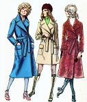 70s Wrap Coat Pattern Mini or Midi Classic Trench Coat Style Simplicity 9665 Vintage Sewing Pattern UNCUT FACTORY FOLDED