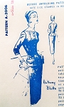 1950s Classy Anthony Blotta Suit Dress Pattern Spadea 2006 Pencil Slim Skirt Beautifully Fitted Longer Jacket Notched Neckline Pockets Daytime or After 5 Bust 40 Vintage Sewing Pattern