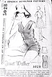 1960s Rare Joset Walker Bathing Suit Beach Wear Pattern Spadea Designer 502B Full Side Buttoning Boy Shorts Legs Swimsuit Wrap Around Skirt 2 Lengths Bust 35 Vintage Sewing Pattern FACTORY FOLDED