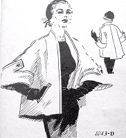 1950s LUXURIOUS Monte Sano and Pruzan Designer Jacket Coat Pattern Spadea 1043 Day or Evening Short Coat Topper Bust 30 Vintage Sewing Pattern