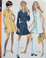 1970s FUN Pantdress or Dress McCall's 2282 Vintage Sewing Pattern Bust 34