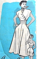 1950s BEACHWEAR Weekend Wear Pattern ANNE ADAMS 4779 Jacket Midriff Top, Flared skirt, High Waist Shorts and Sun Top Bra Bust 30 Vintage Sewing Pattern FACTORY FOLDED