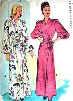 1940s GLAM Film Noir Negligee HouseCoat Robe Hostess Gown Pattern McCALL 6584 Beautiful Design Bust 32 Vintage Sewing Pattern