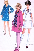 1970s CUTE Dress Pattern SIMPLICITY 8805 Three Styles Bust 34 Vintage Seventies Sewing Pattern