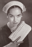 INSTANT PDF PATTERN 50s Vintage Crochet Stylish Hat and Clutch Bag Purse Mid Century Design