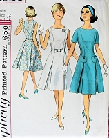 1960s CHIC Princess Line Dress Simplicity 4920 Bust 32 Vintage Sewing Pattern