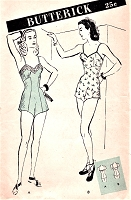 1940s CHEMISE Combination Lingerie Pattern BUTTERICK 3136 Two GLAM PinUp Styles Bust 34 Vintage Sewing Pattern FACTORY FOLDED