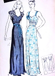 1940s FILM NOIR Midriff Nightgown Lingerie Pattern BUTTERICK 3543 Two Styles Bare Midriff Option Lovely SWEETHEART Neckline  Pin Up Styles Bust 32 Vintage Sewing Pattern