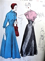 1940s FLATTERING Empire Dress Pattern BUTTERICK 4799 Two Beautiful Styles Bust 32 Vintage Sewing Pattern