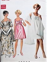 1960s VINTAGE High Waisted Dress and Stole Butterick 5212 Bust 36 Sewing Pattern