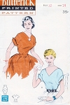 1950s PERKY Blouses Pattern BUTTERICK 5954  KEYHOLE or V Necklines Bust 32 Quick n Easy Vintage Sewing Pattern UNCUT