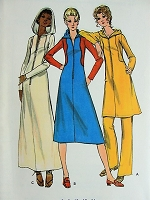 1960s MOD Hooded Dress and Pants Butterick 6052 Vintage Sewing  Pattern Bust 32 1/2
