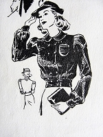 1940s CHARMING Blouse in Two Styles the News Pattern 3023 Vintage Sewing Pattern Bust 36