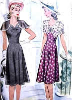 1940s BEAUTIFUL Dress Pattern McCALL 4251 Two Style Versions Early Forties Bust 34 Vintage Sewing Pattern
