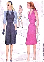 1940s LOVELY Jumper or Sun Back Dress Pattern McCALL 5565 War Time WW II Criss Cross Back Halter Top Dress Bust 30 Vintage Forties Sewing Pattern