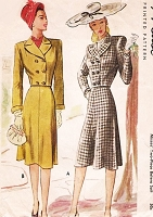 1940s FABULOUS Bolero Jacket Suit Pattern McCALL 6425 Fitted Shortie Jacket Flattering Flared Skirt Bust 34 Vintage Forties Sewing Pattern