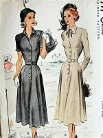 1940S LOVELY Belted Dress McCall 7135 Vintage Sewing Pattern Bust 32