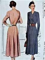 1940s ELEGANT Dress Pattern McCALL 7512 Beautiful Style Details Day or Evening Bust 36 Vintage Sewing Pattern FACTORY FOLDED