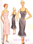 1950s FABULOUS Slip Lingerie Pattern McCALL 8448 Slim or Lower Flounced Perfect For Evening Dress Bust 30 Vintage Sewing Pattern FACTORY FOLDED