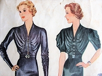 1930s STUNNING Dress Two Sleeve Lengths McCall 9415 Vintage Sewing Pattern Bust 38