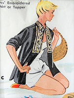 1950s FUN Embroidered Shirt or Vest McCall's 1924 Vintage Sewing Pattern
