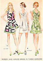 1970s CUTE Dress and Long Scarf Pattern McCALLS 2440 Three Style Versions Bust 38 Vintage Sewing Pattern FACTORY FOLDED